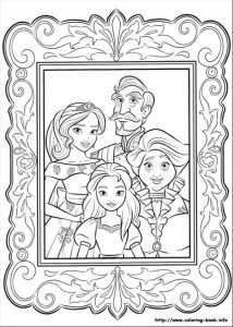 Elena Of Avalor Franciso Isable and Luisa Coloring Page