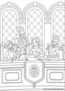 Elena With Francisco Naomi And Esteban Elena of Avalor Coloring Page