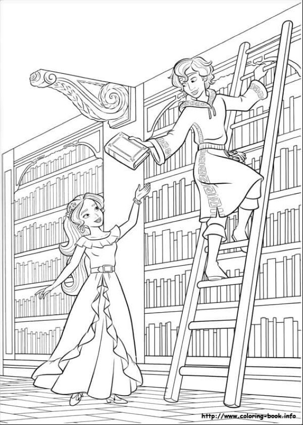 Elena With Mateo Elena of Avalor Coloring Page