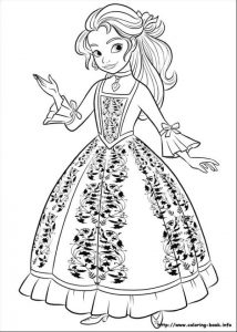 Princess Isabel Elena of Avalor Coloring Page