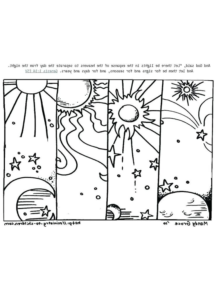 7 days of creation coloring pages for kids
