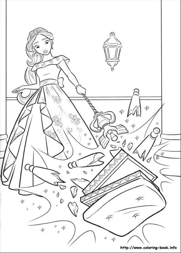 Angry Elena Elena of Avalor Coloring Page