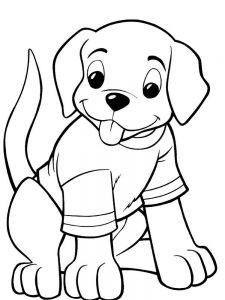 A Cute Puppy Coloring Pages