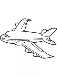 A Plane Coloring Pages