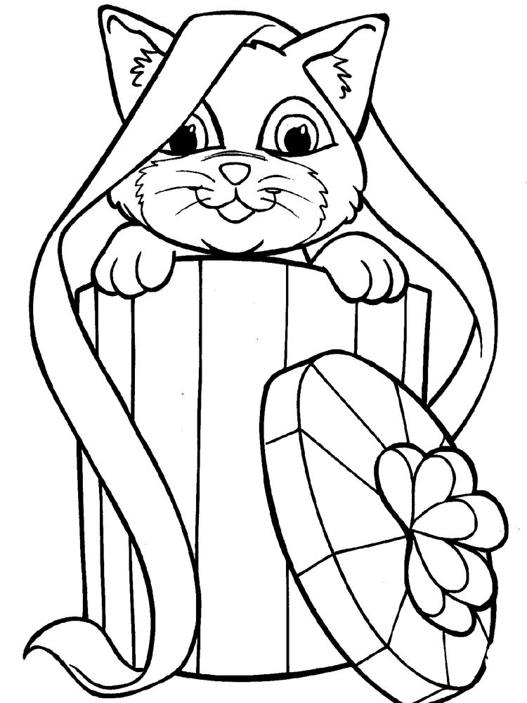 Adorable Kitten Coloring Pages