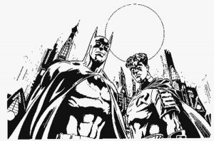 Adult batman and robin coloring pages