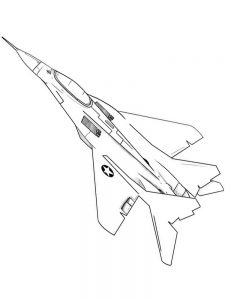 Air Force Airplane Coloring Pages