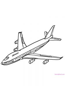 Airplane And Helicopter Coloring Pages 1
