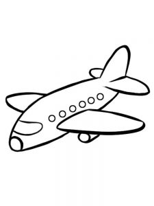 Airplane And Helicopter Coloring Pages
