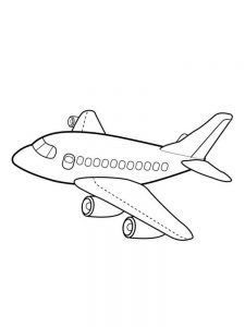 Airplane Coloring Pages For Preschoolers