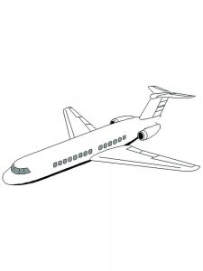 Airplane Coloring Pages For Toddlers 1