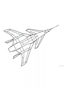 Airplane Coloring Pages Free Printable 1