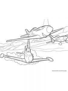 Airplane Coloring Pages Preschool 1