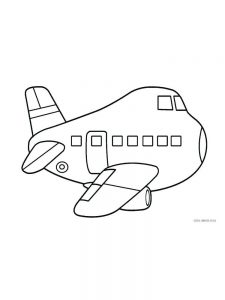 Airplane Coloring Pages Preschool