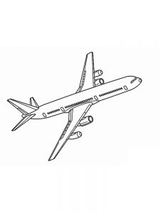 Airplane Coloring Pages Simple