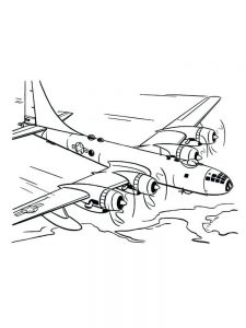 Airplane Coloring Sheets Free 1