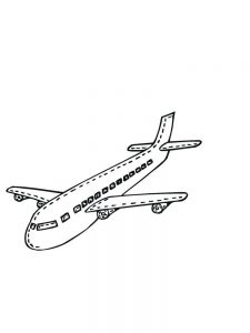 Airplane Colouring In Pages
