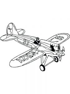 Airplane Colouring Pages Free 1