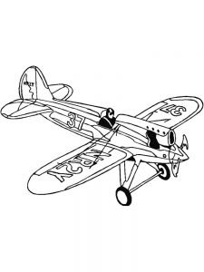 Airplane Colouring Pages Free
