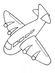 Airplane Colouring Pages To Print 1