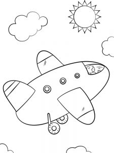 Airplane Pictures Coloring Pages 1