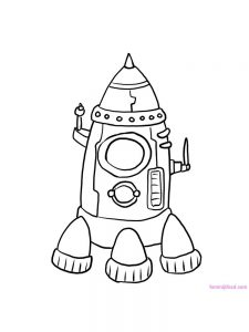 Alien Spaceship Coloring Pages To Print