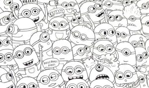All Coloring Pages Minions for kids