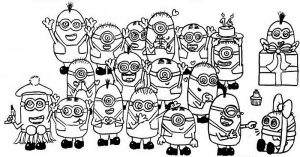 All Minion Coloring Pages for Kids
