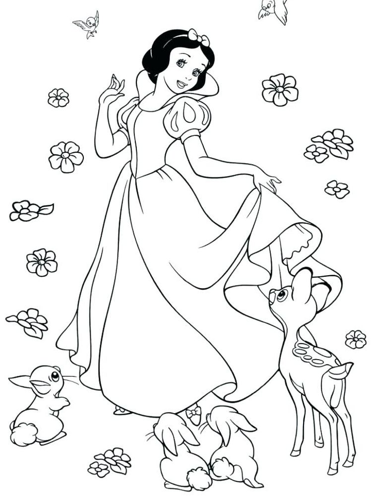All The Disney Princesses Coloring Pages