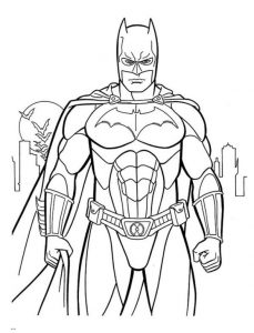 Amazing Picture Of Batman Coloring Page