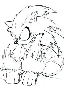 Amy Rose The Hedgehog Coloring Pages