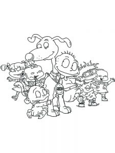 Angelica Rugrats Coloring Pages