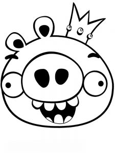 Angry Bird Coloring Pages Free