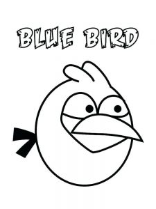 Angry Birds Bubbles Coloring Pages