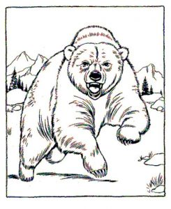 Angry Polar Bear Coloring Page