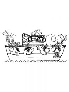 Animals In Noahs Ark Coloring Pages