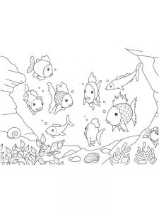 Animated Fish Coloring Page