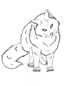 Anime Fox Coloring Pages
