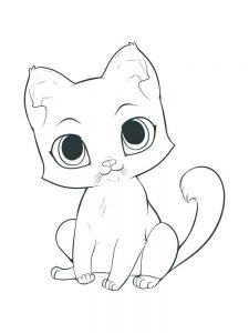Anime Kitten Coloring Pages