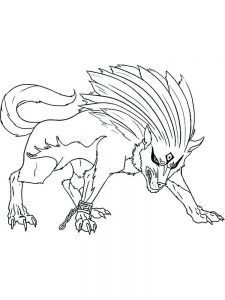 Anime Wolves Coloring Pages