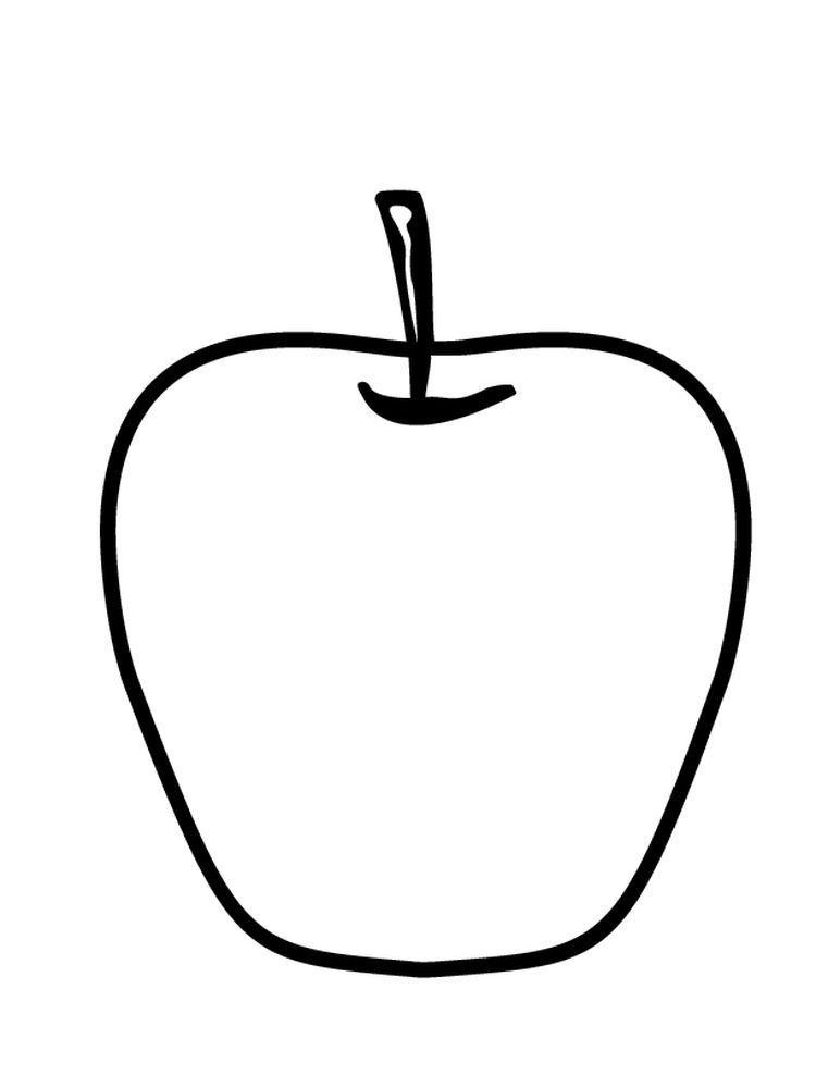 Apple Coloring Page Free Printable