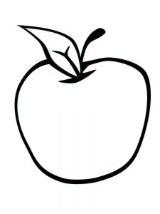 Apple Coloring Page Image