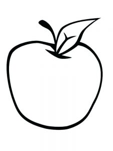Apple Coloring Page Template