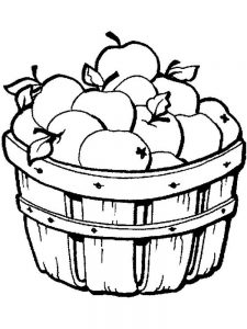 Apple Coloring Page To Print