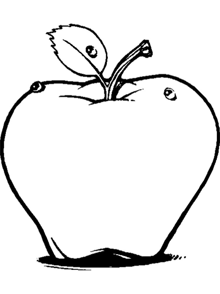 Apple Coloring Pages For Toddlers