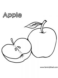 Apple Coloring Pages Free