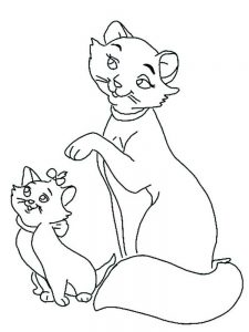 Aristocats Kitten Coloring Pages