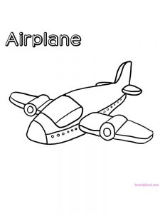 Army Airplane Coloring Pages 1