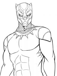 Avengers Black Panther Coloring Pages