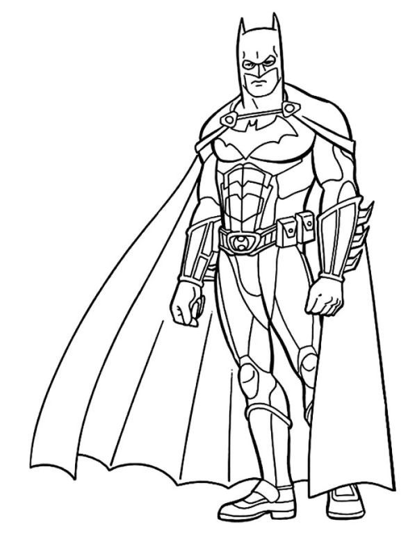 Awesome Batman Coloring Page